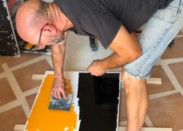 Rocco Schifano a lavoro